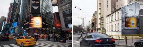 Goodscend's vitamin brand K2 appears on large billboards overlooking New York's Times Square and in the 15th arrondissement of Paris