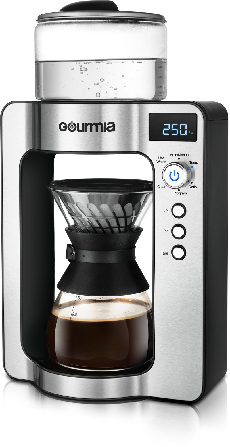 Gourmia's GCMW3375 is the world's first automatic pour-over coffee maker to feature Google Assistant, Amazon Alexa, and Artificial Intelligence (AI). It is also a finalist in the prestigious Red Dot Design Awards.
