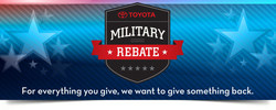 The Military Rebate Program is just one way that local area dealership Arlington Toyota gives back to the community!