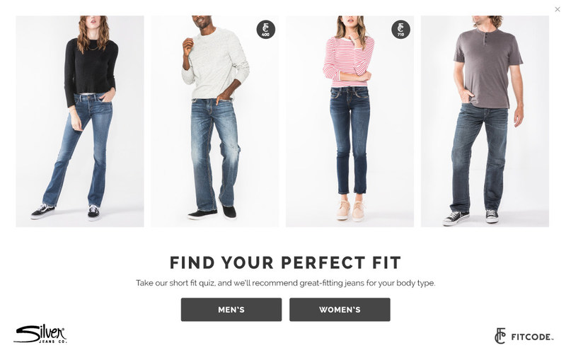 Fitcode has launched a new men's fit tool in partnership with Silver Jeans Co.™. Now, both men's and women's denim lovers can shop personalized denim recommendations for their unique body types on silverjeans.com using the trusted, proven fit tool.