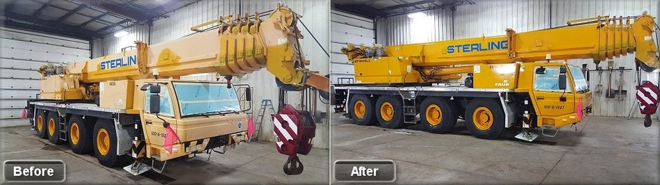 Before & After application of NCI Industrial Coating (CNW Group/Assero Industrial Coatings)