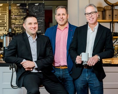 For the second year in a row, Sun Life Financial and The Give Agency founders Chaz Thorne, Mike Maloney and Brian Hickling are building one of the biggest agencies in Toronto for one week to help charities. (CNW Group/Sun Life Financial Canada)