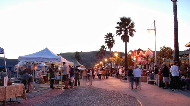 Avila Beach Farmers' Market features booths overflowing with fresh local produce, hand-crafted artisan foods, crafts, restaurants selling delicious local fare, live entertainment, and fun for everyone!