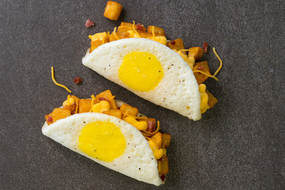 Taco Bell's Naked Egg Taco is back and beginning March 8 you can snag two of the breakfast taco known for its fried-egg shell for just $3.49.