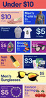 """eBay is introducing """"Under $10"""" - a new destination offering a wide variety of $10 and under items with free shipping, no bidding required. (CNW Group/eBay Canada)"""