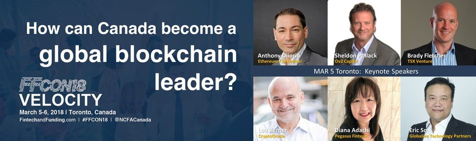 Top Block Chain and Bitcoin Speakers (CNW Group/National Crowdfunding & Fintech Association of Canada)