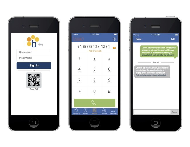 With the Broadvoice b-hive mobile app, users can make calls, transfer calls from their desk phones to their mobile devices and vice versa, access their phone directories, appear as if they are using their business phone numbers and more.