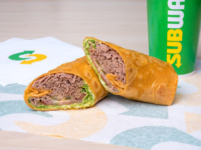 Subway® introduces protein-packed wraps to its U.S. menu, including the Chipotle Southwest Steak & Cheese.