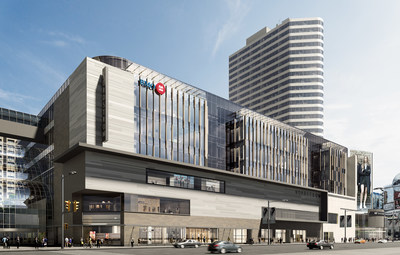 Rendering of the new 'BMO Campus' Urban Workplace, overlooking Yonge and Dundas Square opening in 2021. (CNW Group/BMO Financial Group)