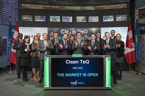 Clean TeQ Holdings Limited Opens the Market (CNW Group/TMX Group Limited)