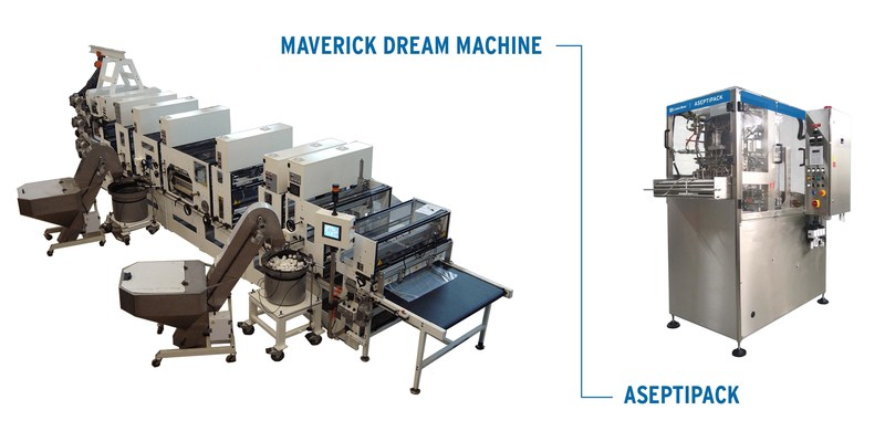 The Maverick Dream Machine (left) and Aseptipack aseptic bag-in-box filler (right) are the two latest additions to Liqui-Box testing capabilities at their Global Technology Center located in Ashland, OH.