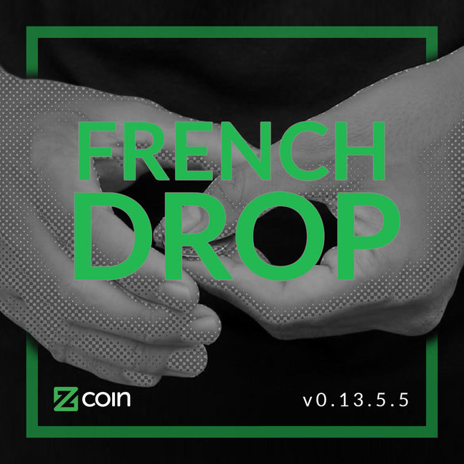 "The version ""French Drop"" is named after one of the most fundamental sleights of hand in coin magic which Zcoin sees as symbolizing the mathematical wizardry behind zero-knowledge proofs."