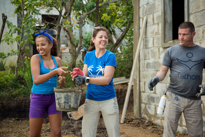 As part of the Fathom Travel group sailing onboard the Crown Princess from Princess Cruises in January, guests helped locals rebuild a family's home in Loma de la Bestia in the Dominican Republic.