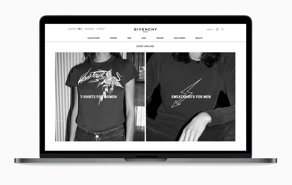 Givenchy Rolls Out E-Commerce Platform to New European Markets (PRNewsfoto/Givenchy)