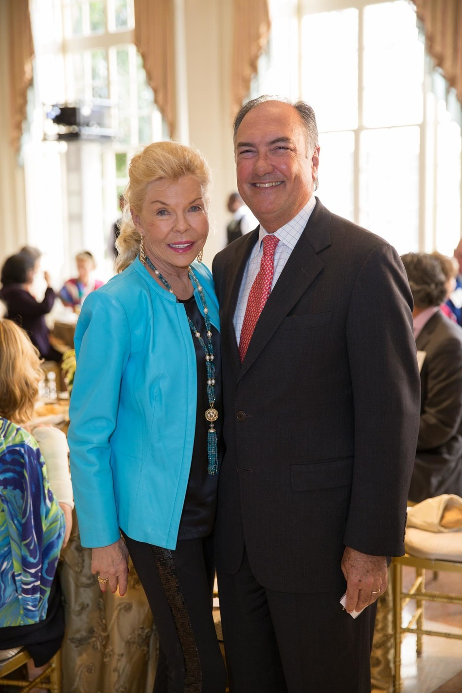 Lois Pope with Dr. Eduardo C. Alfonso, Director of Bascom Palmer Eye Institute at the University of Miami