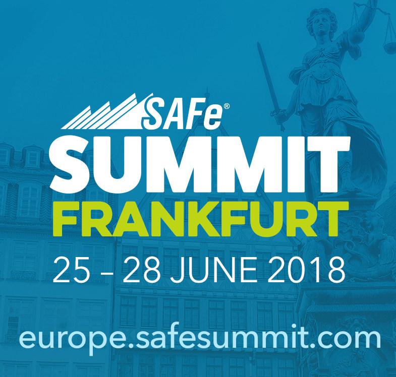Registration open for Regional SAFe Summit, Europe in Frankfurt, Germany. Go to europe.safesummit.com for details.