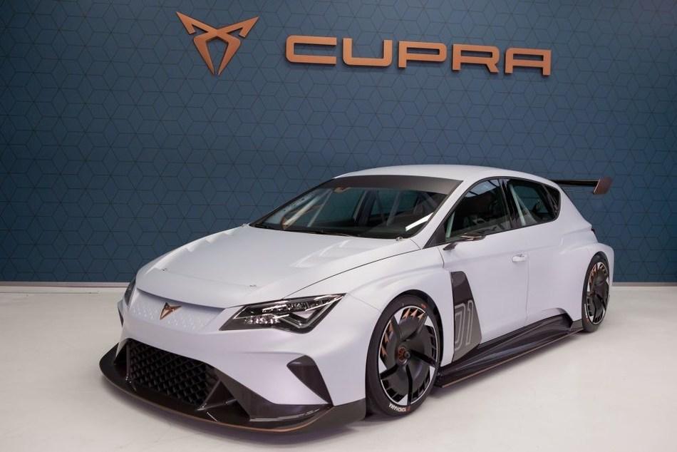 The CUPRA e-Racer, the world's first 100% electric TCR race car (PRNewsfoto/CUPRA)
