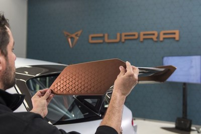 The Cup Copper colour, a shade that perfectly matches the model's character (PRNewsfoto/CUPRA)