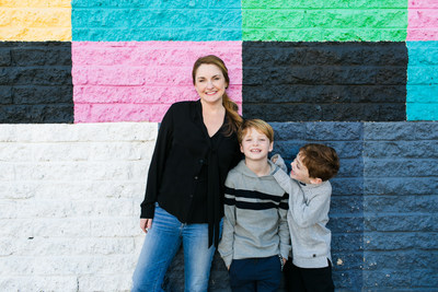 Prep U Products Founder and CEO, Michelle Houp, with her two sons