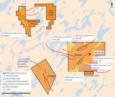 Figure 1 – Geiger Property Map (CNW Group/IsoEnergy Ltd.)