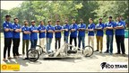 Team Eco-Titans, one of the SEM teams this year, with their prototype ET'18 (PRNewsfoto/Shell India)