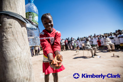 Through its Toilets Change Lives program, Kimberly-Clark is teaming with UNICEF to help communities in Angola to build their own clean, safe toilets. Since its inception, the program has given over 240,000 Angolans access to basic sanitation facilities.