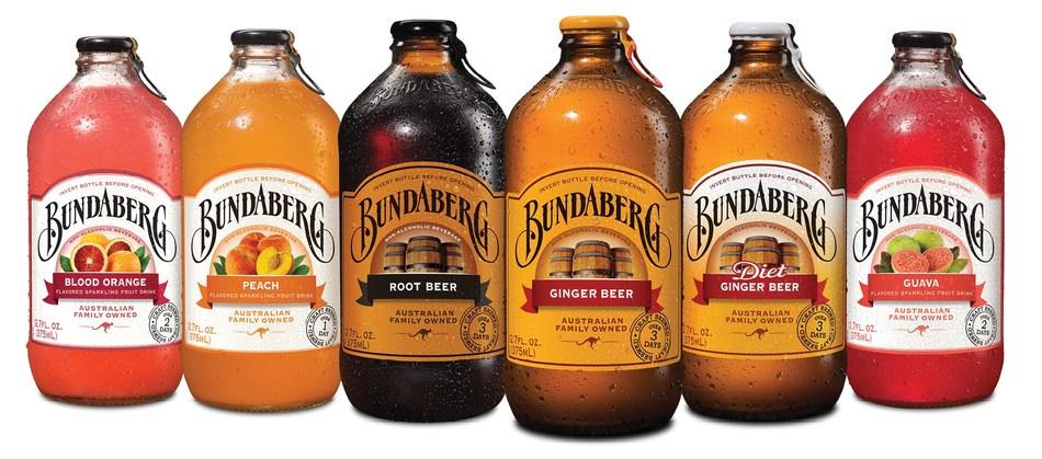 Bundaberg Brewed Drink craft-brewed product range.