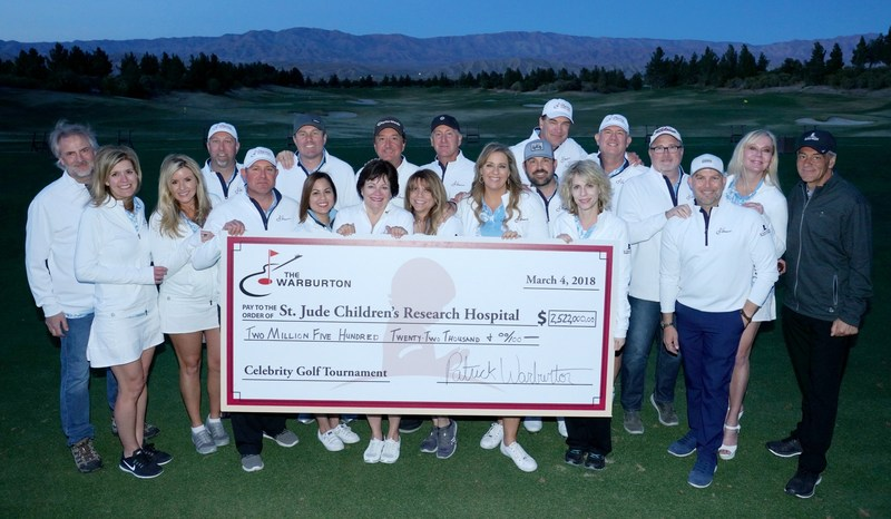 Patrick Warburton Celebrity Golf Tournament raises a record $2.5 million for St. Jude Children's Research Hospital®, which is leading the way the world understands, treats and defeats childhood cancer and other life-threatening diseases. Photo credit: Scott Avra