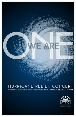 Cushman Creative wins gold design award for Eddie's Attic hurricane relief concert poster.