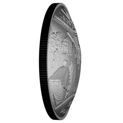 La Monnaie lance une balle courbe aux collectionneurs avec sa nouvelle pièce convexe célébrant l'histoire du baseball canadien (Groupe CNW/Monnaie royale canadienne)