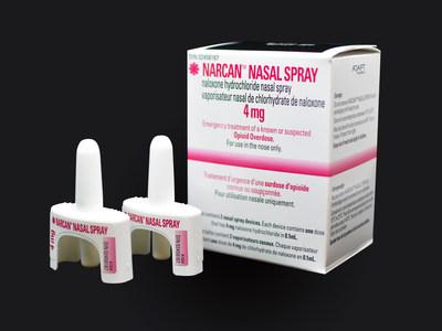 NARCANtm (naloxone HCl) Nasal Spray 4 mg (Adapt Pharma) (Groupe CNW/Adapt Pharma)