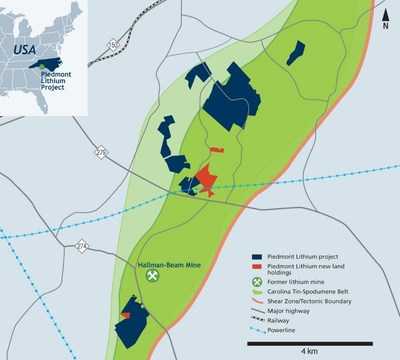 Piedmont Lithium New Land Holdings