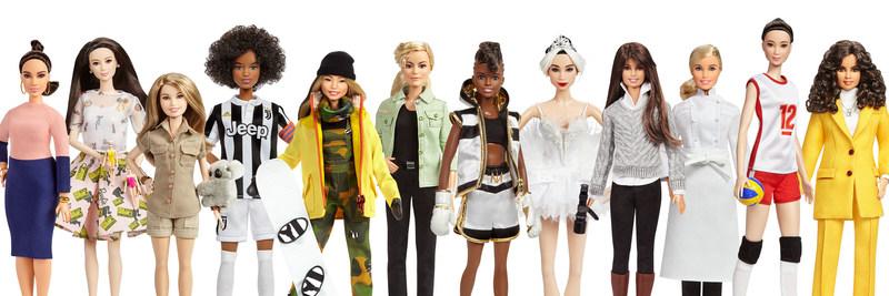 Barbie Global Role Models include: Vicky Martin Berrocal, Xiaotong Guan, Bindi Irwin, Sara Gama, Chloe Kim, Martyna Wojciechowska, Nicola Adams OBE, Yuan Yuan Tan, Patty Jenkins, Hélène Darroze, Hui Ruoqi, and Leyla Piedayesh