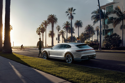 The presentation of the Mission E Cross Turismo from Porsche at the Geneva Motor Show is a concept study in the form of a fully electric CUV. (CNW Group/Porsche Cars Canada)
