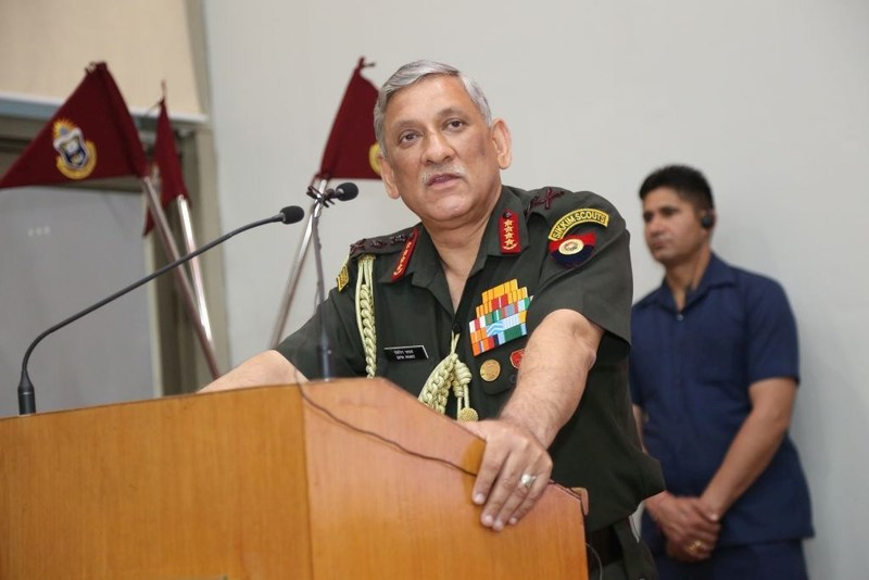 Chief of Army Staff General Bipin Rawat delivers a Distinguished Public Lecture at JGU (PRNewsfoto/O.P. Jindal Global University)