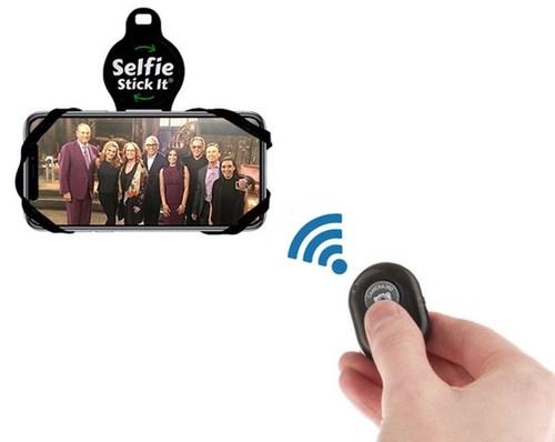 Selfie Stick-It! The world's first hands free mount with Bluetooth remote. (PRNewsfoto/Norlandam Marketing Inc.)
