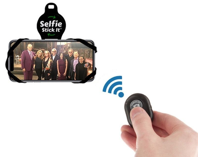 Selfie Stick-It! The world's first hands free mount with Bluetooth remote. (PRNewsfoto/Norlandam Marketing Inc.)