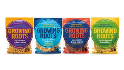 Los bocaditos bites y clusters de Growing Roots (Crédito de la fotografía: Unilever) (PRNewsfoto/Unilever United States, Inc.)