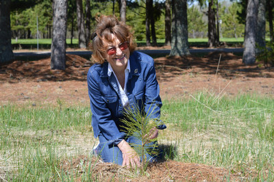 Wanda Mitchell planted 15,000 trees on her Dryden property. (CNW Group/Forests Ontario)