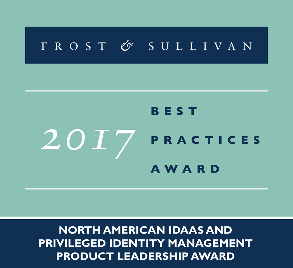 2017 North American IDaaS and Privileged Identity Management Product Leadership Award (PRNewsfoto/Frost & Sullivan)