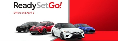"""The """"Ready, Set, Go!"""" promotion at Michael Toyota includes low pricing, low financing rates and favorable lease terms on new Toyota vehicles."""
