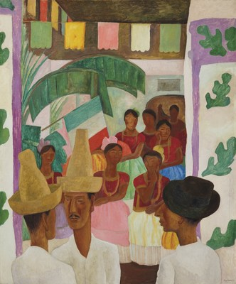 Diego Rivera (1886-1957), The Rivals. Oil on canvas. 60 x 50 in. Painted in 1931. $5,000,000-7,000,000