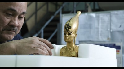 Historic Treasures from King Tut's Tomb Arrive to U.S. for Upcoming Exhibition World Premiere at California Science Center CREDIT:  Laboratoriorosso, Viterbo, Italy