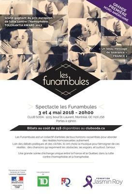 Spectacle Les Funambules (Groupe CNW/Fondation Jasmin Roy)