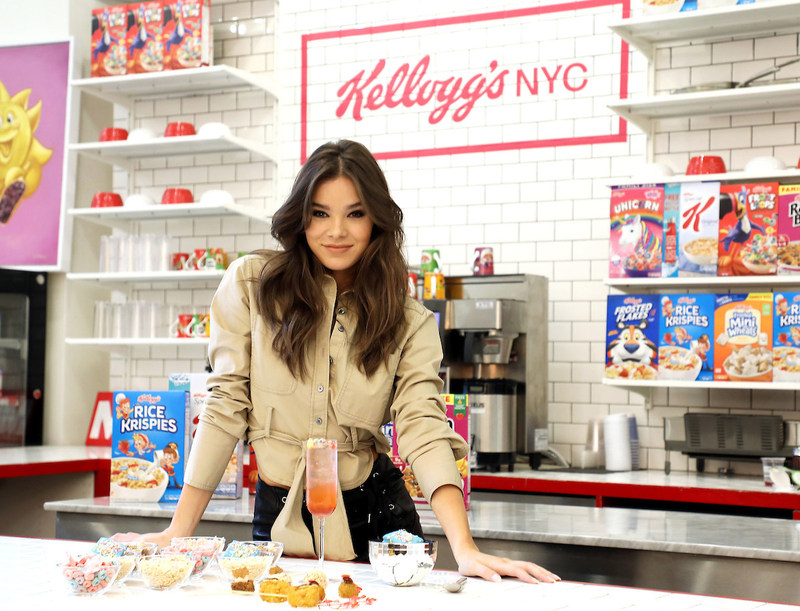Hailee Steinfeld enjoys unique cereal creations created by Kellogg's®. Credit: Sara Jaye Weiss