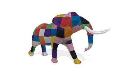 Elmer, the patchwork elephant, will march in the herd.