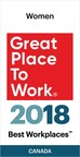 IndustryBuilt Software has been recognized as one of this year's Best Workplaces™ for Women. (CNW Group/IndustryBuilt Software)
