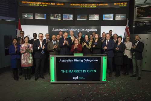 Australian Mining Delegation Opens the Market (CNW Group/TMX Group Limited)