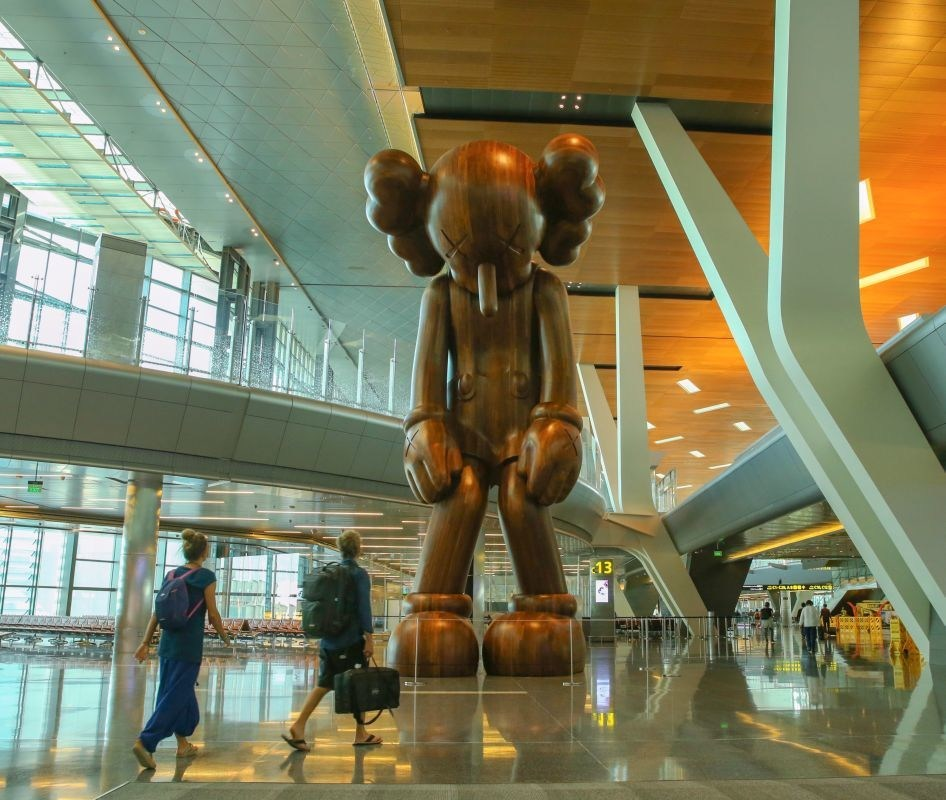 SMALL LIE by KAWS at Hamad International Airport, Doha, Qatar (PRNewsfoto/Hamad International)