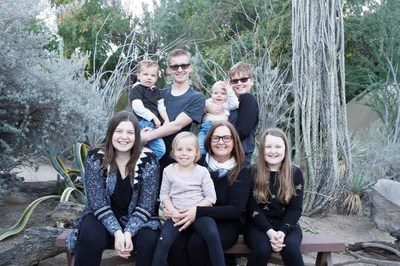Canadian Hearing Society Community Support Staff, Gail Brunsdon with her seven grandchildren - five of whom are Deaf. (CNW Group/The Canadian Hearing Society)